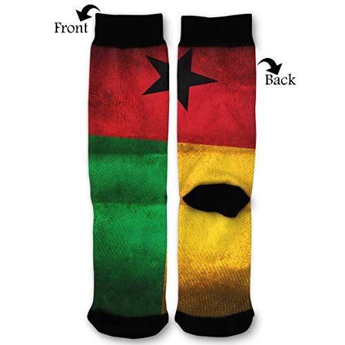 Vintga Guinea Bissau Honorary Flag Dress Funny Crazy Casual Cotton Crew Socks Novelty Socks Gifts for Mens Womens Teens