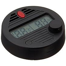 Quality Importers HygroSet II Round Digital Hygrometer for Humidors, Black