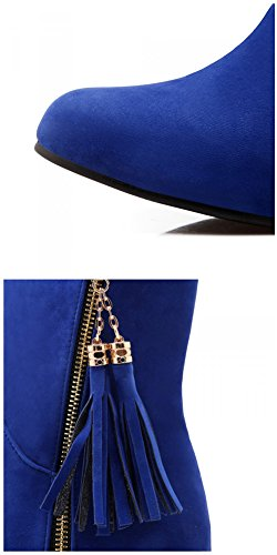 Donna con Stivali Frange 35 Blu Le Blue HiTime vwBqR