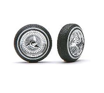Pegasus Hobbies D Style Rims w/Tires,Chrome PGH1003: Amazon.co.uk: Toys & Games
