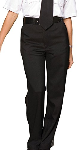 Edwards Women's Flat Front Security Pant, BLACK, 28W