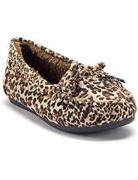 Toddler Little Girls Tasha Fur Lined Slip-On Moccasins Smoking Flats Shoes