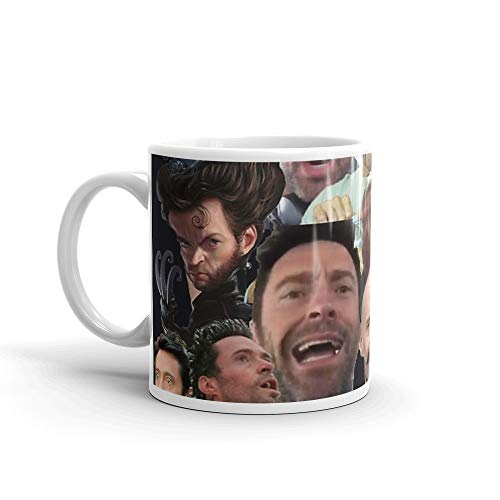 Hugh Jackman's Many Faces. 11 Oz Ceramic Glossy Mugs Gift For Coffee Lover Unique Coffee Mug, Coffee Cup. 11 Oz Ceramic Glossy Mugs Gift For Coffee ()