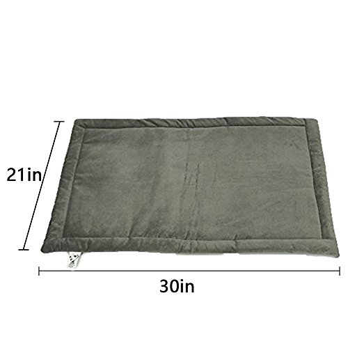 Dog Bed Mat Washable Soft Fleece Crate Pad - Anti-Slip Fleece Kennel Pad for Small Medium Large Pets Mattress by HAOLONGXIANG (Image #2)