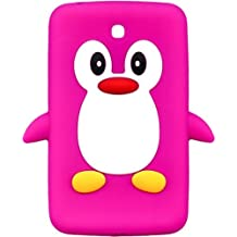 New!! Baby Pink Novelty Penguin Silicone Cover / Case for Samsung Galaxy Tab 2 7.0 P3200/P3210