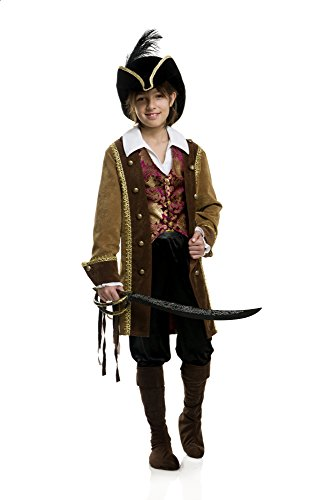 Charades Deluxe Pirate Pete Children's Costume Jacket Shirt And Vest, Medium