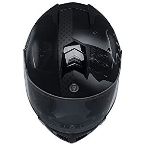 TORC Unisex-Adult Full-Face-Helmet-Style T27B Modular Motorcycle Helmet Integrated Blinc Bluetooth With Graphic (Rebulic) (Flat Black Republic, Large), 1 Pack