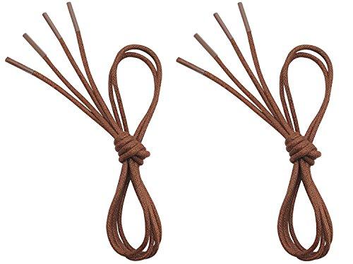 (VSUDO Waxed Round Shoelaces, 1/8