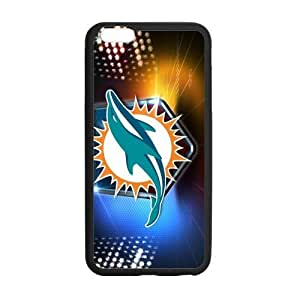 Classic Style Custom Silicone Hard Rubber Protector Case for iPhone6(4.7inch) - Miami Dolphins