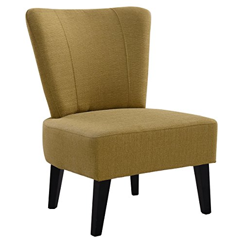 Giantex Armless Accent Chair Upholstered Seat Dining Chair Living Room Furniture (Ginger)