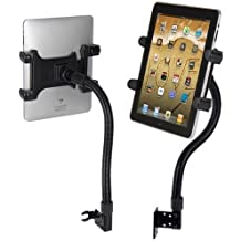"""Robust Seat Bolt Tablet Car Mount Vehicle Holder for Apple iPad Pro 9.7 / iPad Pro 12.9 / iPad Air / iPad Mini, Samsung TAB A E S4 S3 S2 Tablets w/ Anti-Vibration 22"""" Gooseneck (with or without case)"""