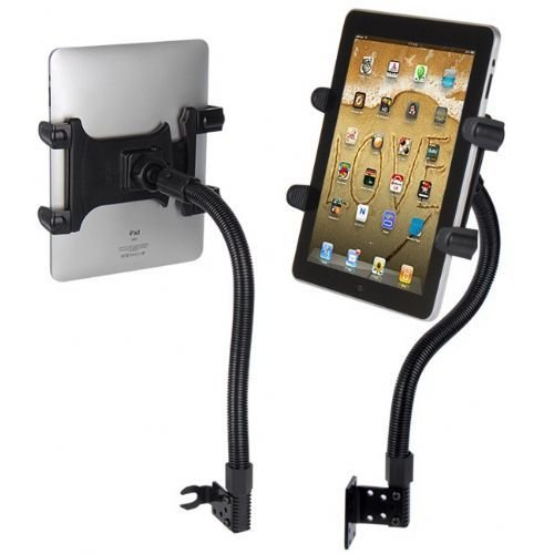"Price comparison product image Robust Seat Bolt Tablet Car Mount Vehicle Holder for Apple iPad Pro 9.7 / iPad Pro 12.9 / iPad Air / iPad Mini, Samsung TAB A E S4 S3 S2 Tablets w/ Anti-Vibration 22"" Gooseneck (with or without case)"
