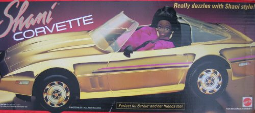 "Barbie SHANI CORVETTE Vehicle ""GOLD"" Convertible Vette Car (1991)"