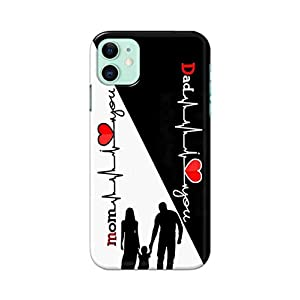 DealIndiaDeals for Apple iPhone 11 Mom Dad Mother Father Love Hard PC Printed Stylish Light Weight Slim Designer…