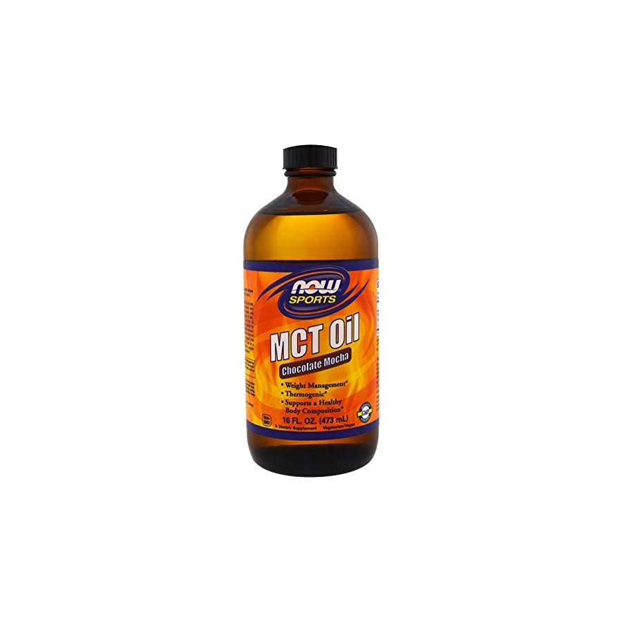 NOW Foods MCT Oil Vanilla Hazelnut