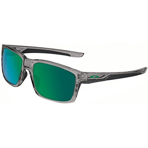 Oakley Men's Mainlink Non-Polarized Iridium Rectangular Sunglasses, Grey Smoke w/Jade Iridium, 57 - Iridium Polarized Jade