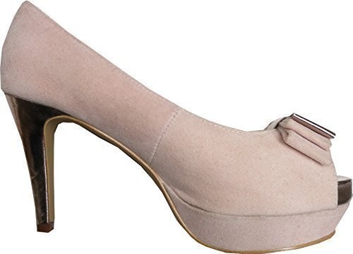 Peeptoe High Heels von Chillany in Rose Rose