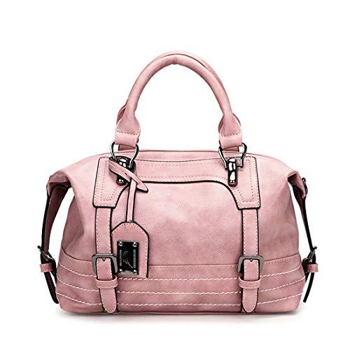 Crossbody Pink Sacs color Handbag Femmes Yy3 À Véritable Pour Cuir Main Brown Tote En Les Shoulder Jessiekervin qanOwC1n