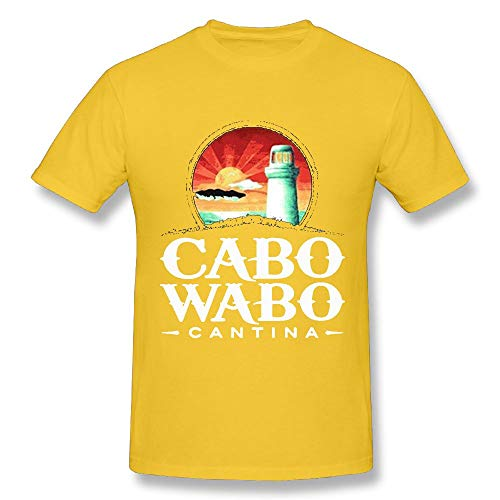 Quliuwuda Connor Men Cabo Wabo Casual Style Travel Yellow Shirts XL Short Sleeve