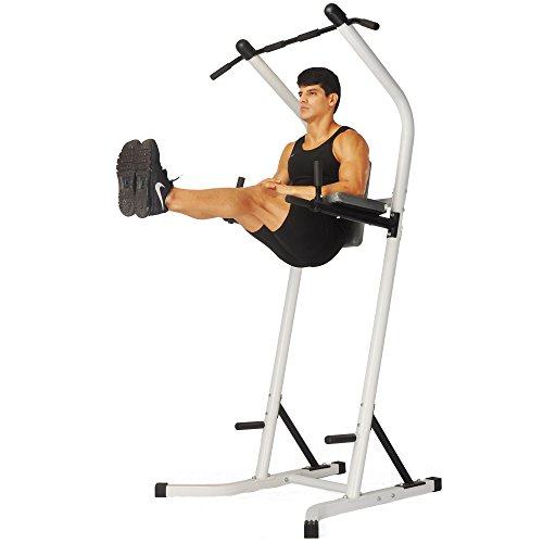XPH Pull Up Dip Station Power Tower Workout Tower Fitness Station Body Tower Sports Equipment Pull Up Bar Standing Tower Home Fitness Workout Station (white) by XPH (Image #1)'