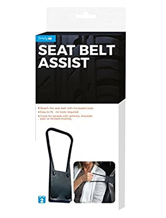 Schulterschmerzen oder Eingeschr/änkter Mobilit/ät 2/St/ück ideal f/ür Menschen mit Arthritis Einfach SAS01/Universal Sicherheitsgurt Assist Greifzange passend f/ür alle Standard-Sicherheitsgurte und ziehen abnehmbarer