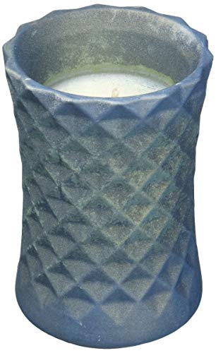 Candellana Candles Candlefort Candles Concrete Poly II-Dark Blue, Scent: Orient Wood -