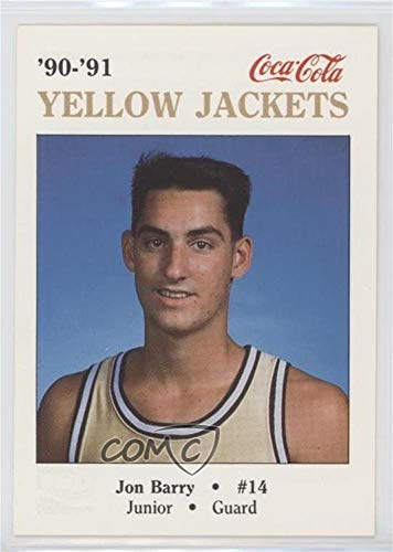 Jon Barry (Basketball Card) 1990-91 Coca-Cola Georgia Tech Yellow Jackets Police - [Base] #14 1990 Georgia Tech Yellow Jackets