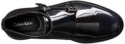 Calvin Klein Men's Damire Faux-Patent Leather Monk Strap Shoe