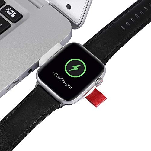 Watch Charger, Portable Magnetic iWatch Wireless Charger USB Fast Charging Compatible for Apple Watch Series 6 5 4 3 2 1 44mm 42mm 40mm 38mm SE Nike+ Cordless Quick Watch Charger for Travel
