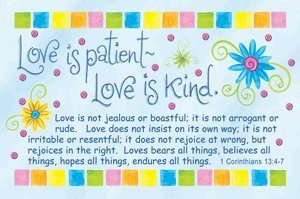 Pass It On Message Cards...Love is Patient... Package of 25