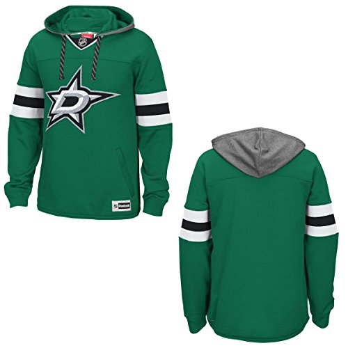 NHL Dallas Stars Men's Face Off Jersey Pullover Hoodie, Small, Green