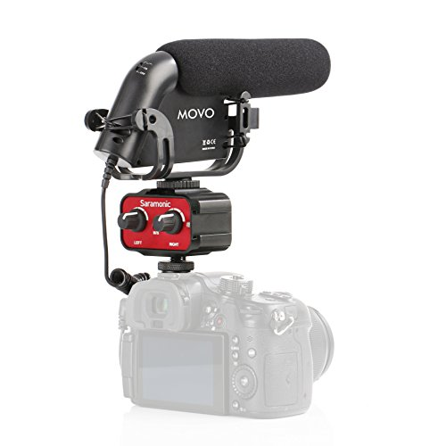 Movo Cinema Bundle with Shotgun Condensor Video Microphone and 2-Channel Audio Mixer for DSLR Cameras & Camcorders