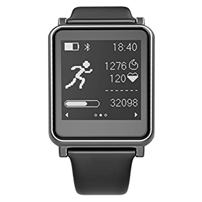 """Meicent Smart Watch Sport I7,Heart Rate Monitor/Activity Tracker/Sport Types 1.28""""Touch Screen For iPhone&Android Black"""