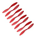 Genuine Gemfan 9047 (9x4.7) Propellers by RAYCorp. 8 Pieces(4CW, 4CCW) Red 9-inch Quadcopters & Mutlirotors Props + RAYCorp Battery Strap