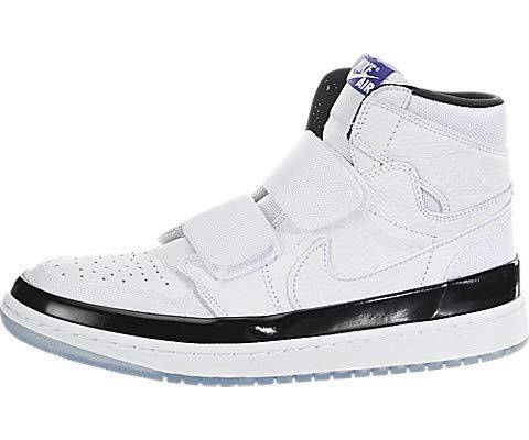 Nike Air Jordan 1 Retro High Double Strap Mens Shoes White/Dark Concord/Black aq7924-107 (10.5 D(M) US)