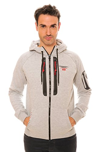 Geographical Norway - Sweat Homme Geographical Norway Global Gris Clair