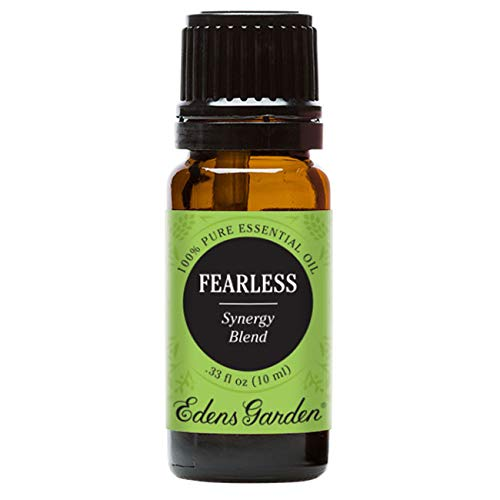 Edens Garden Fearless 10 ml 100% Pure Therapeutic Grade GC/MS Tested (Spruce, Bergamot, Juniper Berry, Myrrh, Arborvitae, Nootka Tree, Thyme, Citronella)