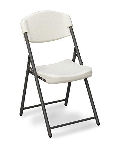 Iceberg ICE64033 Rough 'N Ready Economy Folding Chairs, Platinum (Pack of 4)