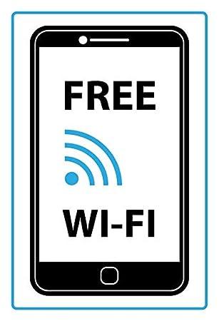 Placa de Chapa genérica 20 x 30 cm Free Wi-Fi WiFi Cartel ...