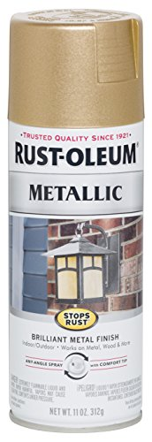 Rust-Oleum 286524 Stops Rust Metallic Spray Paint, 11 oz, Warm Gold ()
