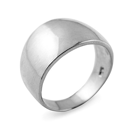 (Cigar Ring Band in High Polish 925 Sterling Silver (Size 6.5))