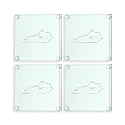 Cathy's Concepts Alabama Home State Glass Coasters, Clear