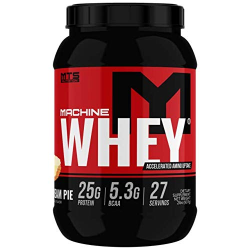 MTS Machine Whey Protein (2lbs, Banana Cream - Banana Cream Protein Pie Powder