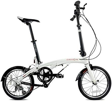 Paseo Bicicleta Plegable Bicicleta Universal para Mujer Bicicleta De 6 Velocidades Juego De Ruedas De 16 Pulgadas Cambio De Compacta (Color : Blanco, Size : 150 * 30 * 108cm): Amazon.es: Hogar