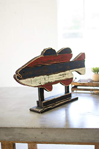 Kalalou Recycled Wooden Fish on a Stand