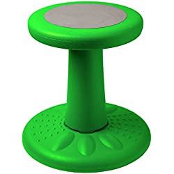 "Active Kids Chair – Wobble Chair Pre-School - Elementary School - Age Range 3-7y – Grades K-1-2 - 14"" High – Flexible Seating Classroom - Helps ADD/ADHD - Corrects Posture - Green"