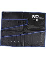 BGS 1196-LEER | Tetron-lege tas voor mond-ringsleutelset art. 1196 | roltas