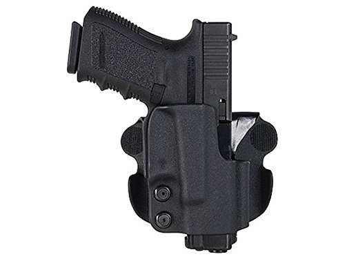 Comp-Tac Paddle Holster Straight Drop Right Hand Glock 34, 35 Kydex Black