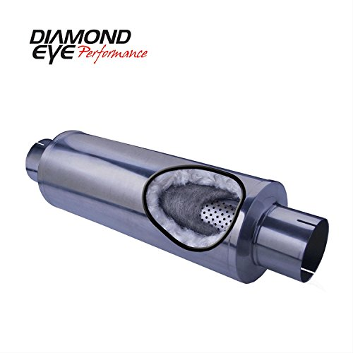 - Diamond Eye Performance 560031 Performance Perforated Packed Muffler; 5 in. Inlet/Outlet; Center/Center; 30 in. Length; 409 Stainless Steel;