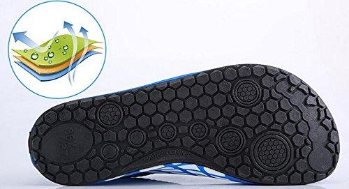 Erwachsene Tauchen Schuhe rutschfeste Tretmühle Schuhe Schwimmen Schuhe Grau und Weiß Streifen